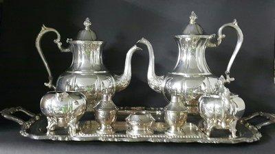 431高檔英國鍍銀壺組 Vintage Silverplate Ornate teapots (皇家貴族精品)