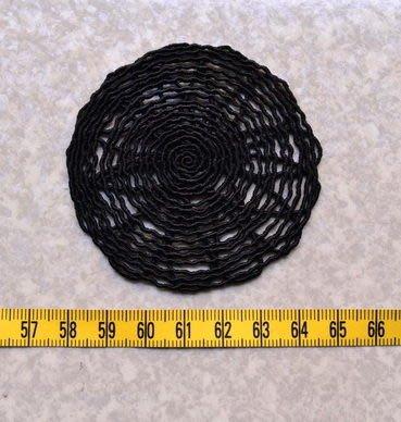 黑色形蕾絲花片- / 拼布材料 / 自然風拼布包裝飾配件*巧巧布拼布屋*日本進口