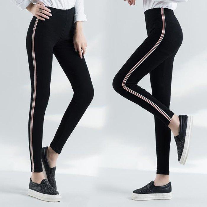 裝新款大尺碼女褲外穿加肥胖mm200斤百搭純棉加厚九分打底褲女