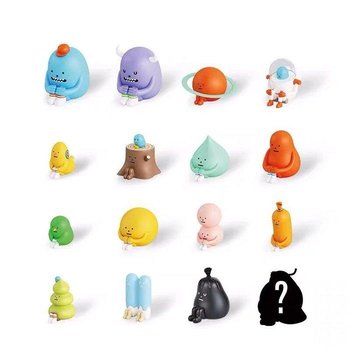 正版Sticky Monster Lab黏黏怪物研究所公仔SML盲盒坐坐潮玩手辦 一套25只裝