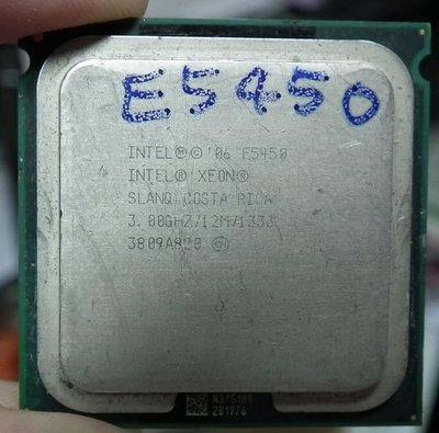 LGA771有貼片 E5450 12M 4核心 3G XEON四核心SLANQ(類Q9650 Q9550 E5440)