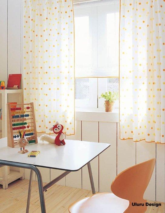 【Uluru】日本窗簾布藝.繽紛 (2色) 彩色點點 兒童房 訂製窗簾 捲簾 羅馬簾 波浪簾 S簾 蛇型簾 美式鄉村