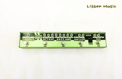 立昇樂器 Valeton Dapper Bass 綜合效果器 Tech21 rig bass 可參考 貝斯效果器 公司貨