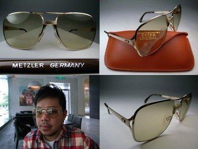 【信義計劃眼鏡 】METZLER 太陽眼鏡 德國製 蔡司鏡片金屬框 超越全視線 金屬大框 方框 飛行員 飛官 護眼 護目