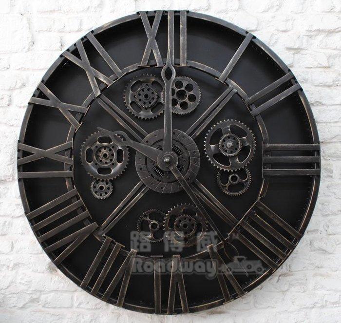 復古金屬鐵藝工業風創意機械齒輪鐘錶酒吧LOFT餐廳網咖牆壁裝飾掛