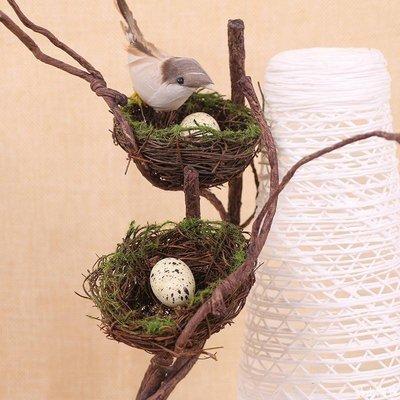 暴走潮貨 手工藤編織鳥巢鳥窩鳥籠裝飾鳥窩鳥屋森系婚慶禮拍攝拍照道具擺件