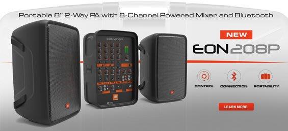 【民揚樂器】JBL EON 208P 300W 攜帶式擴音喇叭