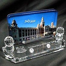 (紀念品/禮物/ 相架/水晶雕刻) 相片彩印水晶卡(咭)片座 Crystal Color-printing Card Holder
