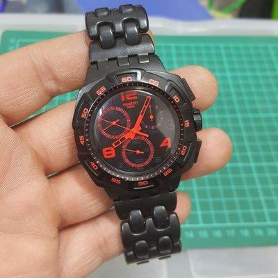 <羽量級> Swatch 4.5cm 超大錶徑 三眼錶 非 CK MK IWC ETA CK GUCCI lv Rolex OMEGA SEIKO s9