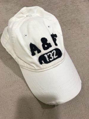 Abercrombie and Fitch A&F AF 男生棒球帽 白色 老帽 A&F拼布logo 經典絕版品 正品 台北市