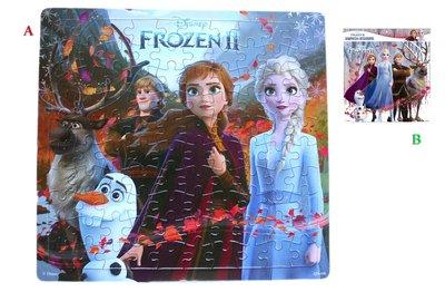 【卡漫迷】 Frozen 兒童 100片 拼圖 剩A款 ㊣版 冰雪奇緣 艾莎 安娜 雪寶 Elsa Anna 益智 遊戲