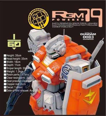 G-System GS-173 1/60 PG RGM-79 强化型吉姆 {改裝套件} 高達手辦模型 Gundam resin model ironman