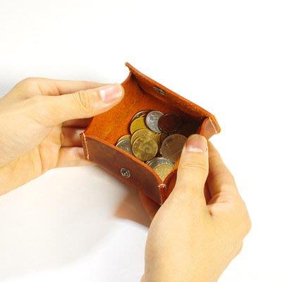 【良品好物】3件免運!瘋馬牛皮零錢包搭扣硬幣包設計師新款真皮多功能零錢包