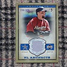 Jeff Bagwell 2006 Artifacts 名人堂傳奇重砲 太空人隊球星 早期經典實戰球衣卡 no簽名