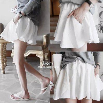 夏季新款百搭繫帶裙擺式休閒短褲寬鬆顯瘦...