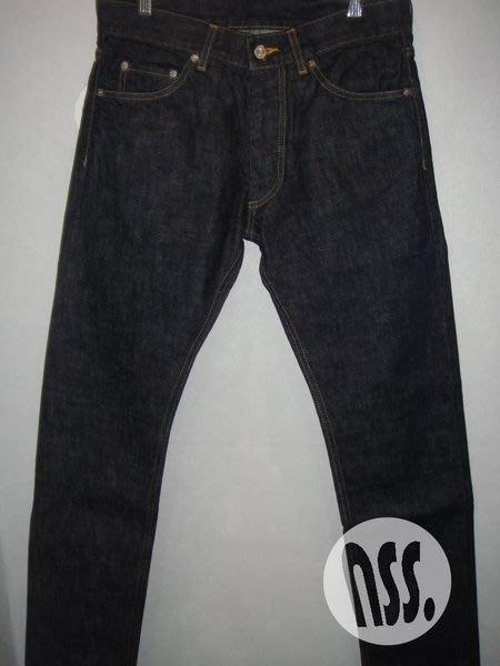 特價「NSS』ENGLATAILOR BY GB INDIGO DENIM 原色褲 牛仔褲 窄版 S 日本製 馬場圭介