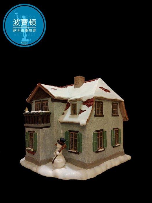 【波賽頓-歐洲古董拍賣】歐洲/西洋古董 德國舊物 大型喜姆娃娃房屋No4(M.I. Hummel Goebel)立燈 (尺寸:高17公分)(年份:約1990年)