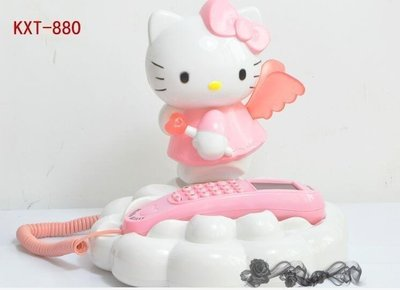 無雙藍調 歐式家居生活館韓版 Hello Kitty限量仿古 有繩來電顯示 創意家用電話機-181