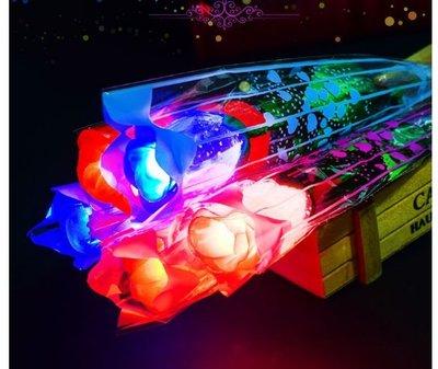 發光LED玫瑰花束 ❤ 情人節必備 活動演唱會晚會 求婚用具 贈品 玫瑰花 聖誕節 派對 貓耳朵 髮箍 髮圈