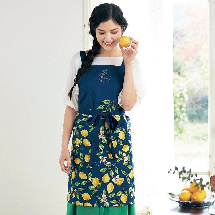 迪士尼DISENY《預購》小熊維尼 100%綿 優雅圍裙~日本製~心心小舖