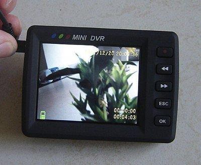 附遙控器 超清 搖控啟動 鈕扣針孔攝像機 CCD鏡頭攝影機+2.5吋DVR監視器/行車紀錄器 錄影筆