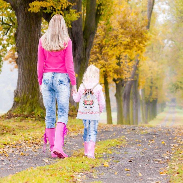 ☆║♥愷心小舖♥║☆歐美 ins 亞馬遜超熱賣 兒童 女童 夢幻 獨角獸 雙面 亮片 束口包 雙肩包 後背包