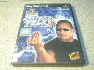 PS2 激爆職業摔角3/世界摔角聯盟 WWE Smack Down 日文版 直購價700元 桃園《蝦米小鋪》