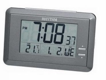 RHYTHM CLOCK 日本麗聲冷光液晶數位電子座鐘鬧鐘 型號:LCT060NR08【神梭鐘錶】 台北市