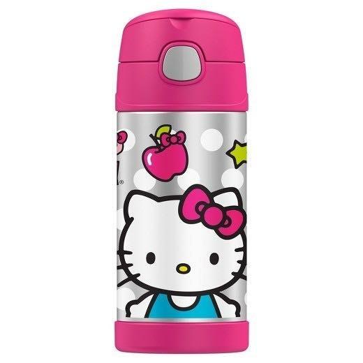 美國 Thermos 膳魔師兒童水杯 不銹鋼保溫瓶 新款提把 粉色 kitty_現貨*妮可寶貝*