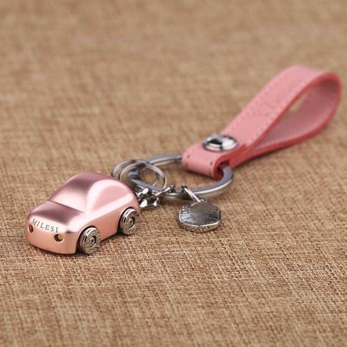 ☜男神閣☞鑰匙扣米勒斯小汽車男女鑰匙扣創意禮品情侶鑰匙鍊掛件韓國可愛圈定製