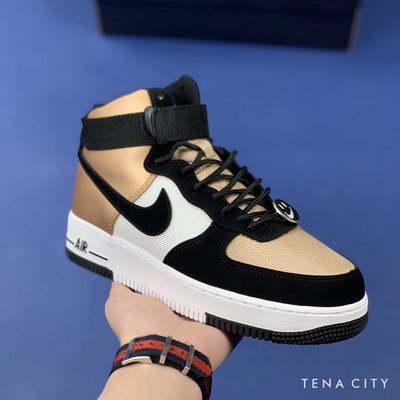 Nike Air Force 1 High Joins the Have a Nike Day 笑臉 黑金白拼色高筒板鞋