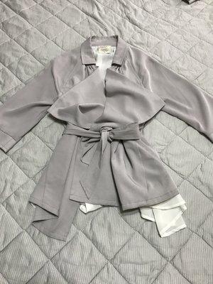 專櫃Salad Dressing 正品灰色綁帶西裝外套