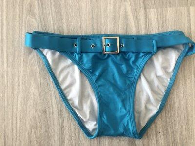 美國品牌TAUNT亮緞土耳其藍金屬腰帶比基尼短褲 腰帶可以拉開像Herve Leger性感