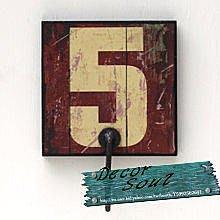 DS北歐家飾§ loft工業風 貨櫃鐵皮實木刷漆 組合數字5壁掛勾衣架仿舊復古美式鄉村 咖啡廳