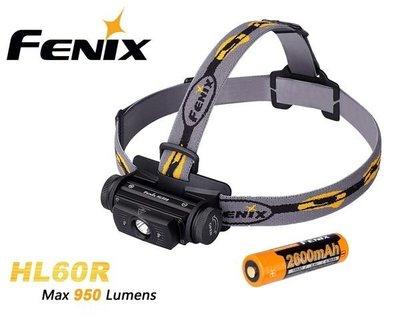 {MPower} Fenix HL60R Cree XM-L2 T6 LED 950流明 頭燈 USB Head light 電筒 - 原裝行貨