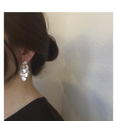 【hi_sweet_sour】圓形流蘇串垂墜穿耳耳環