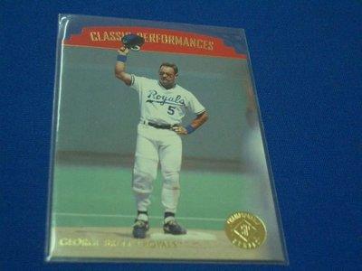阿克漫257-40~MLB-1995年SP Championship Die Cuts特卡1:75 George Brett只有一張