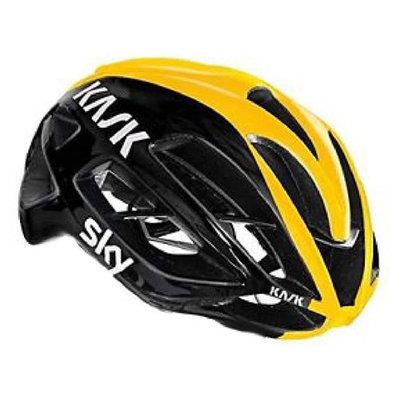 (公司貨二年保固) Kask Protone 公路車安全帽 (TEAM SKY 亮黑黃色)