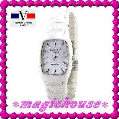 *夢幻精品屋*【可刷卡↘2200】范倫鐵諾《高質感全陶瓷錶-女白》原廠公司貨