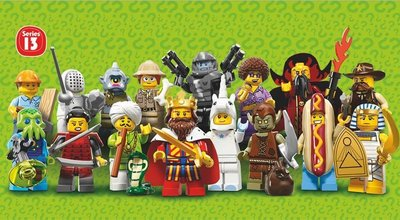 LEGO 樂高 Minifigures 13 人偶組 人偶包第13代 整盒60包入(16款人物) (71008)