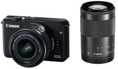 【eWhat億華】Canon EOS M10 搭 15-45mm 55-200mm 雙鏡組 黑色 公司 特價出清 【2】