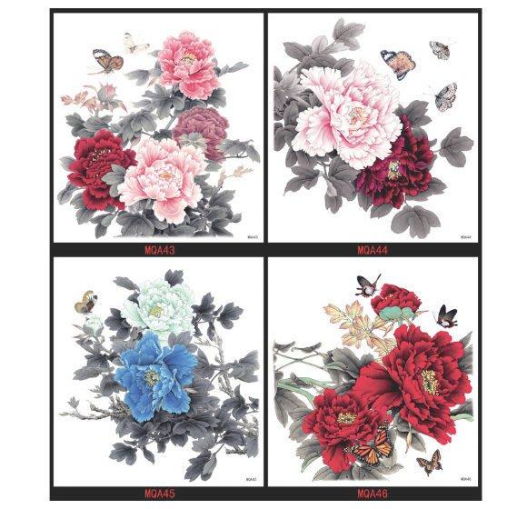 【萌古屋】大牡丹花朵大圖 - 男女防水紋身貼紙刺青貼紙K38 (共四款可選)