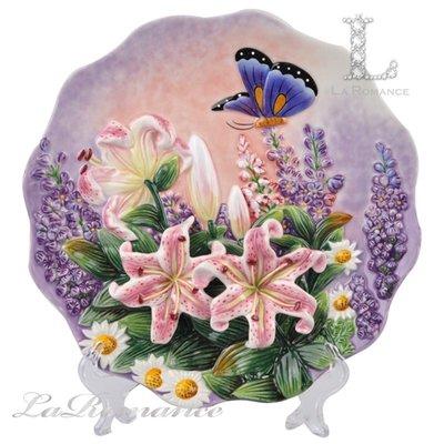 【芮洛蔓 La Romance】Function Art 蝶戀花系列 – 百合 3D掛盤 / 擺飾 / 情人節 / 禮物