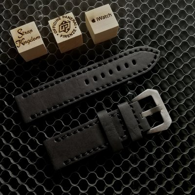 Black Buffalo Leather Strap 手造厚牛皮 黑色