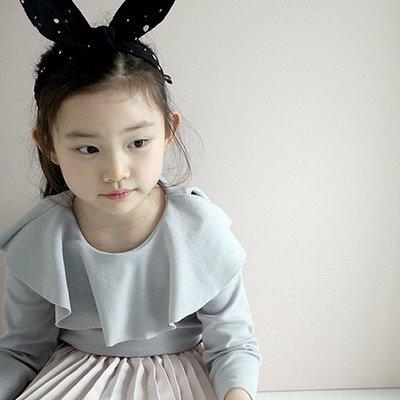 【愛寶貝嚴選好物】韓國 Mini Dressing時尚可愛兔子耳朵造型髮帶_黑白點點 (MDA005)