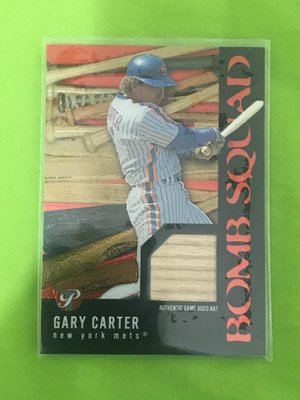 2003 Topps Pristine名人堂Cary Carter球棒卡(已過世)