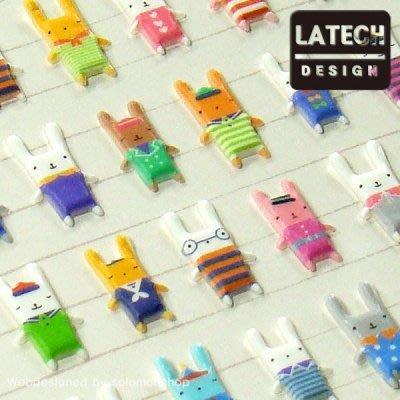 ❅PAVEE❅ 韓國Latech~ Bonny Bonny 波尼兔子 立體裝飾貼紙 15s-c524