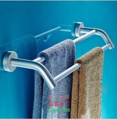 美學153浴室 衛生間浴室掛件太空鋁毛巾架 五金衛浴掛件毛巾桿雙桿浴巾架❖3088