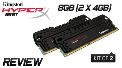 Kingston 金士頓 DDR3 1866 8GB HyperX Beast Kit 4GB x2 4G 8G 可參考