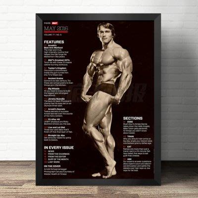健美裝飾畫健身房書房州長肌肉勵志海報貼掛畫定做阿諾施瓦辛格